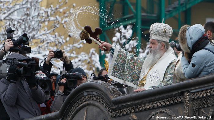 Mazedonien Epiphanie Bad in Skopje Erzbischof Stefan