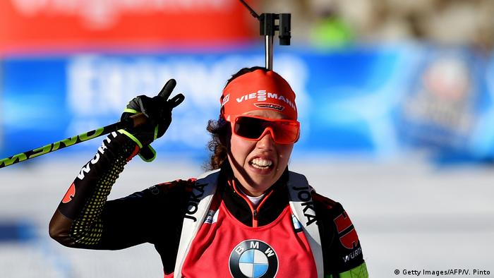 Italien Antholz Laura Dahlmeier (Getty Images/AFP/V. Pinto)