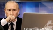 Vladimir Putin mit Laptop