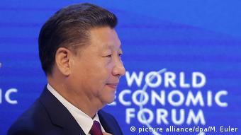 Schweiz Weltwirtschaftsforum Davos - Chinesicher Präsident Xi Jinping (picture alliance/dpa/M. Euler)