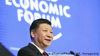 Председатель КНР Си Цзиньпин на форуме в Давосе