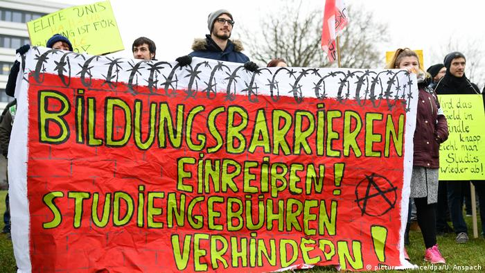 Student tuition protest in Heidelberg