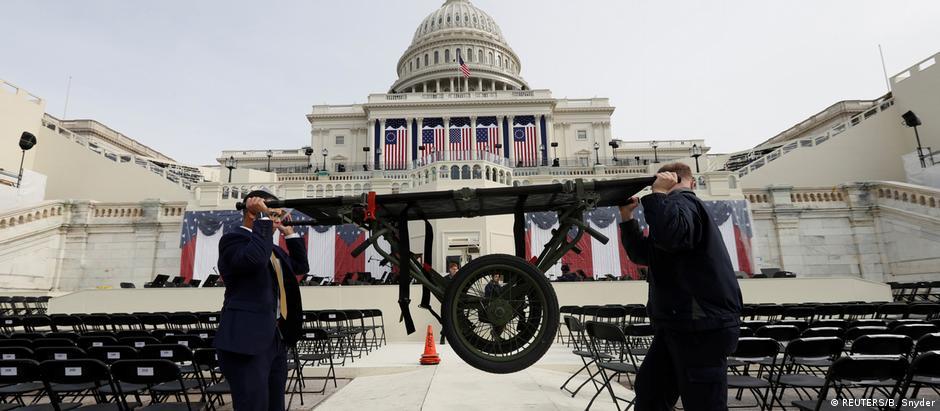 Preparativos para a posse de Trump em Washington