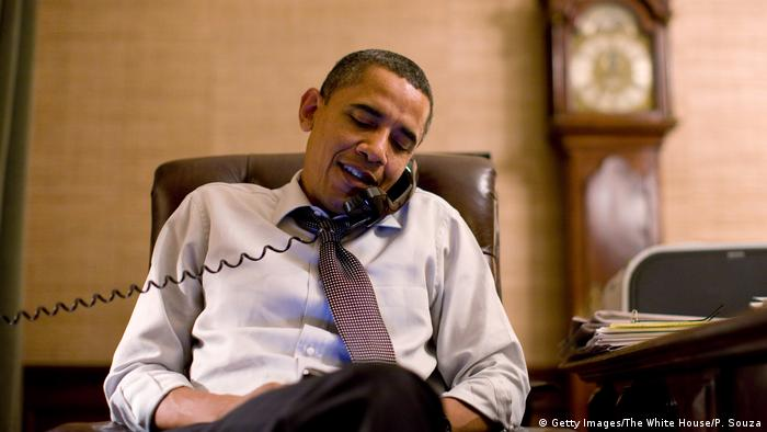 Obama on the phone (Getty Images/The White House/P. Souza)