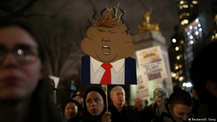 USA | Anti-Trump-Proteste in New York (Reuters/S. Yang)