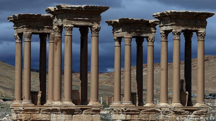 Syrien Palmyra Tetrapylon (Getty Images/AFP/J. Eid)