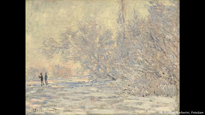 Frost in Giverny by Clauda Monet, 1885, in the Museum Barbarini in Potsdam (Museum Barberini, Potsdam)