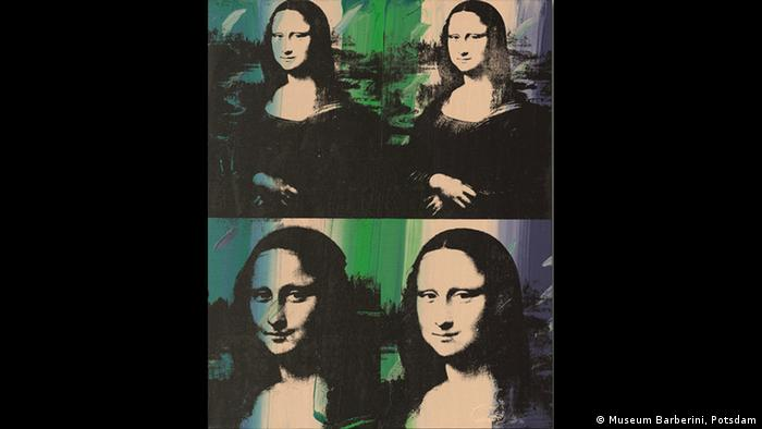 Andy Warhol's version of the Mona Lisa (Museum Barberini, Potsdam)