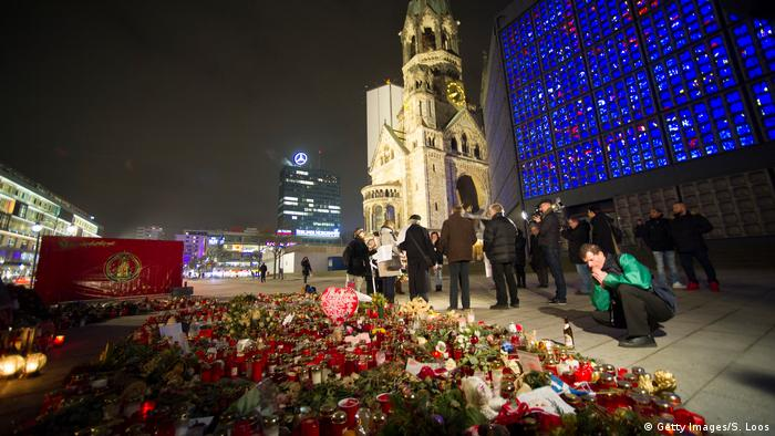 A memorial for the victims of the Berlin Christmas market attack