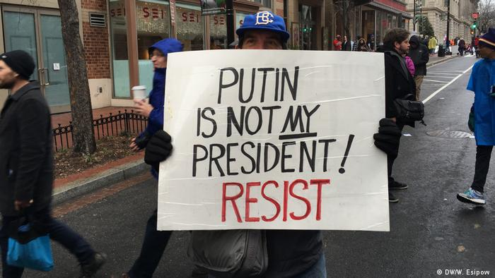 USA Protest gegen Trump & Putin in Washington
