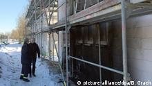 Deutschland Brand in Neubau für Asylbewerberunterkunft in Neuenstein