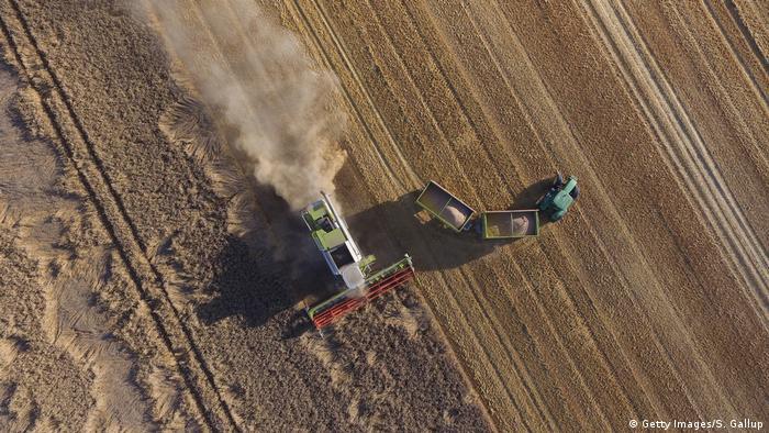 Landwirtschaft - Traktor von Oben