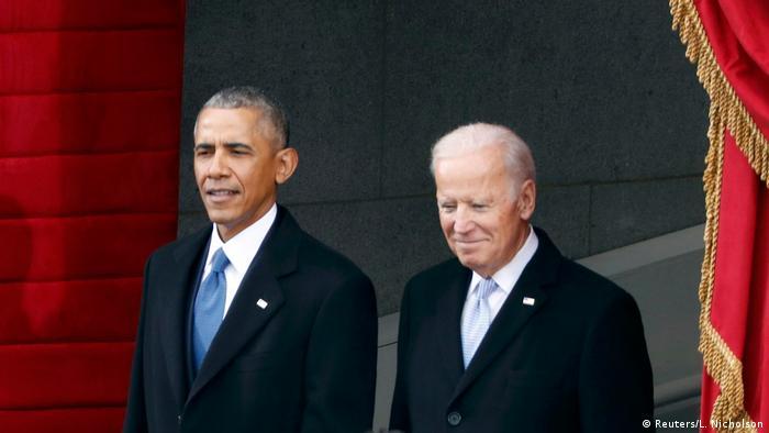 Obama und Biden arrive to Trump's inauguration ceremony in 2017 (Reuters/L. Nicholson)
