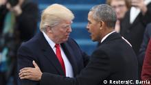 USA Amtsübernahme Trump und Obama