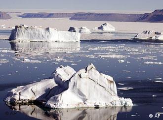 Icebergs in the Arctic sea