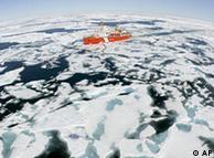 El hielo polar se está derritiendo.