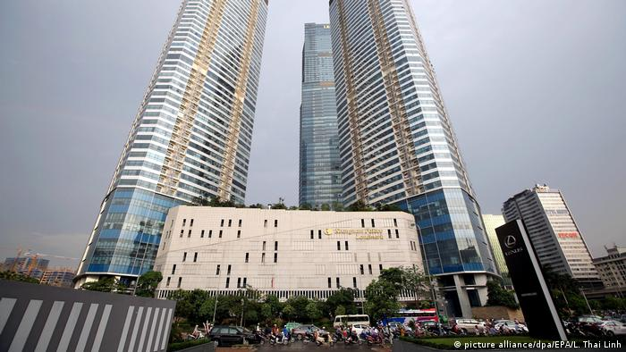 Комплекс зданий Landmark 72 в Ханое, принадлежащий южнокорейской компании Keangnam Enterprise