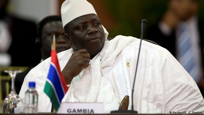 Gambia Ex-Präsident Yahya Jammeh (Reuters/C. G. Rawlins)