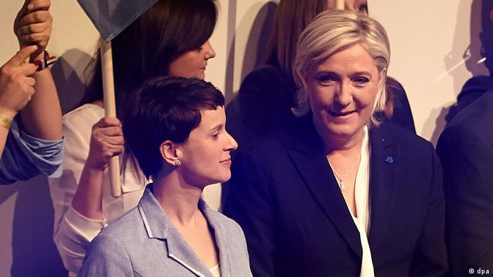 The AfD's Frauke Petry and French far-right leader Marine Le Pen