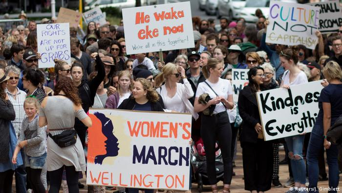 Women's March in Wellington Neuseeland (Reuters/J. Gimblett)