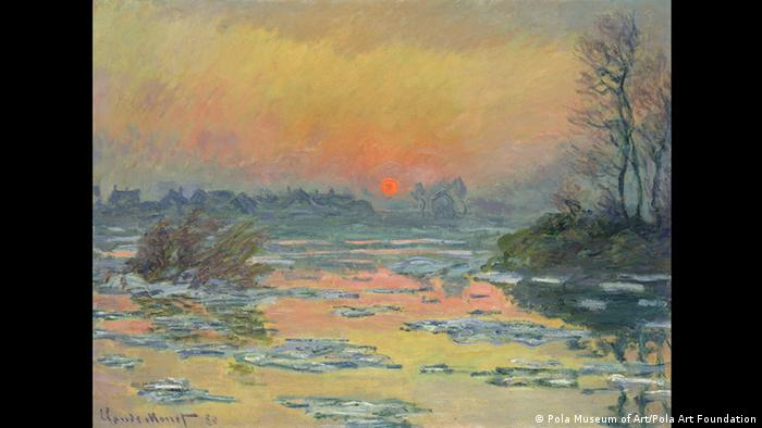 Sunset on the Seine in Winter by Claude Monet (Pola Museum of Art, Pola Art Foundation)