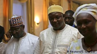 Gambia Machtwechsel - Präsident Adama Barrow in Dakar, Senegal