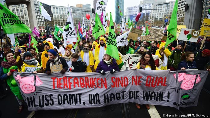 Deutschland Protest Landwirte Grüne Woche in Berlin