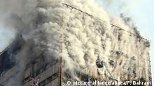 Iran Trauer um die Opfer des gestürzten Plasco-Gebäudes in Teheran