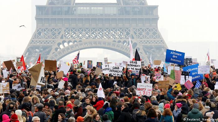 Women's March in Paris Frankreich