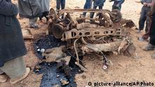 Trümmer nach dem Bombenattentat