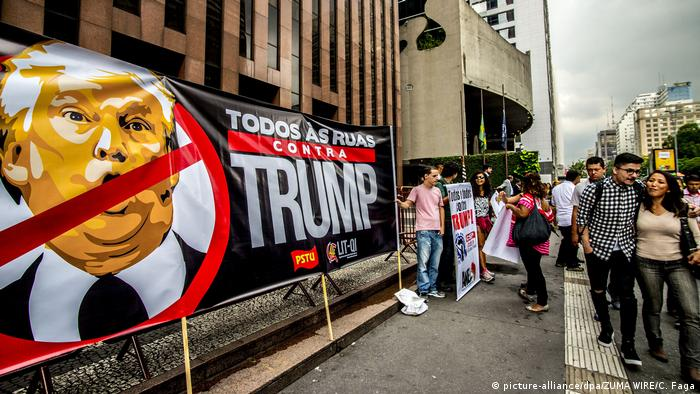 Proteste gegen Trump - Brasilien (picture-alliance/dpa/ZUMA WIRE/C. Faga)