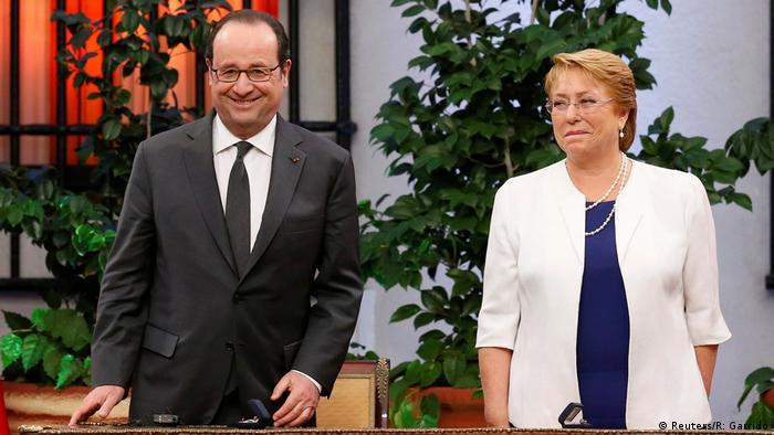Chile Francois Hollande und Michelle Bachelet (Reuters/R: Garrido)