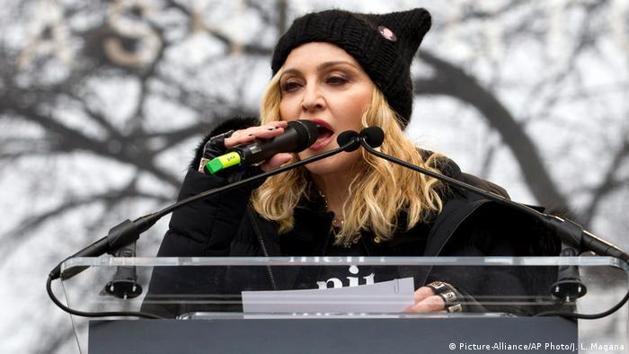 Washington Womens March Madonna (Picture-Alliance/AP Photo/J. L. Magana)