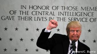 US-Präsident Donald Trump besucht das CIA-Hauptquartier (Reuters/C. Barria)
