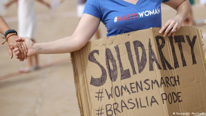 Brasilien Women's March Trump Proteste (Reuters/A. Machado)