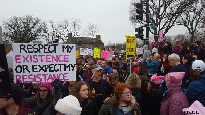 Washington Women's March Trump Proteste (DW/D. Raish)