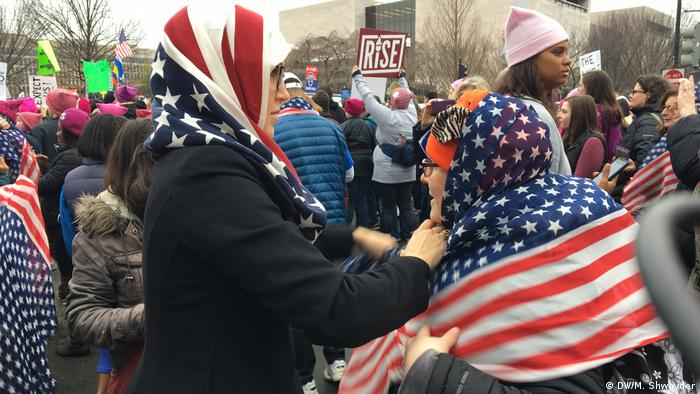 Washington Women's March Trump Proteste (DW/M. Shwayder)