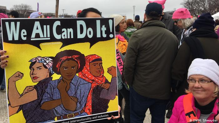 Protesta contra Trump en Washington.