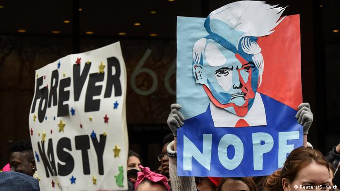 New York City Women's March Trump Proteste