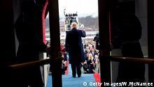 Donald Trump bei seiner Amtseinführung am Freitag