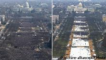 Inauguration Obama vs Trump