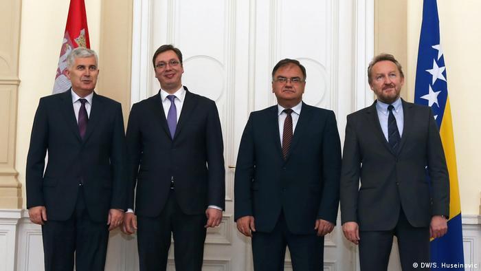 Bosnien Besuch serbischer Premierminister Aleksandar Vucic