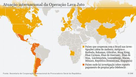 Infografik internationale Reichweite von Operação Lava Jato POR