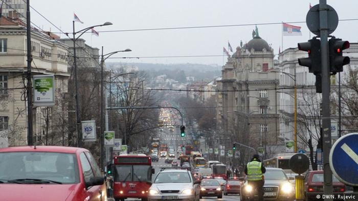 Serbien Reise von Nemanja Rujevic Belgrad Straße (DW/N. Rujevic)