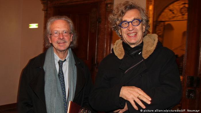 Peter Handke und Wim Wenders (picture alliance/picturedesk/F. Neumayr)