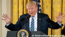 US Präsident Donald Trump spricht zur Vereidigung weiterer Minister