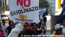 Demonstrationen in Mexiko gegen den Benzinpreisanstieg
