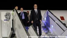 Frankreich Präsident Francois Hollande Ankunft in Bogota (Reuters/Colombian Foreign Ministry)