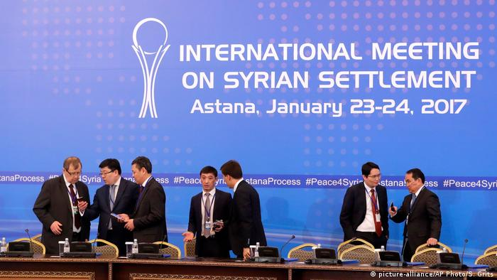 Kasachstan Syrien Friedensgespräche in Astana (picture-alliance/AP Photo/S. Grits)