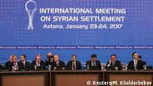 23.01.2017 **** Participants of Syria peace talks attends a meeting in Astana, Kazakhstan January 23, 2017. REUTERS/Mukhtar Kholdorbekov